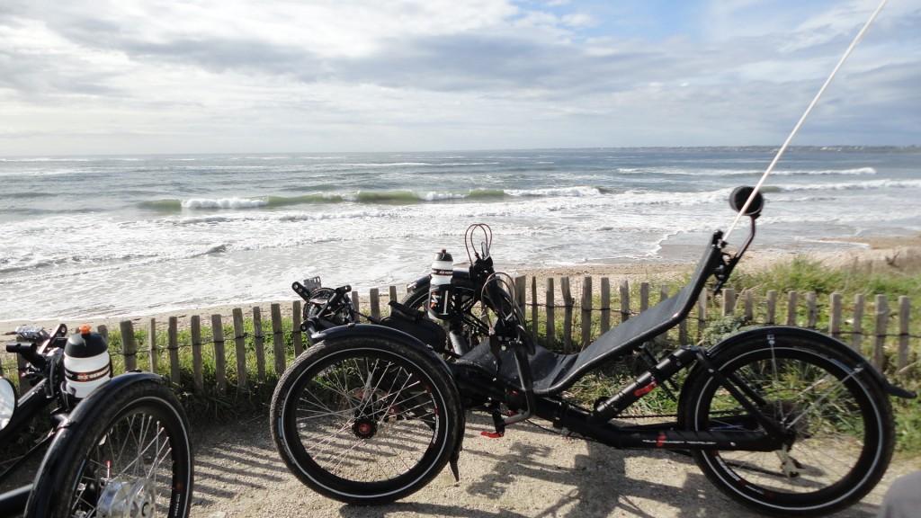 Lors de notre sortie à Guidel plage (Morbihan)